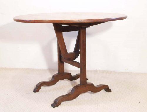 French Antique Vintage Cherry and Oak Vendange Table