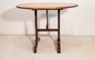 French antique vintage cherry and oak vendange table,side