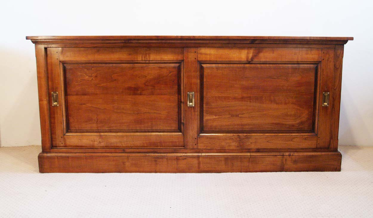 French Antique Vintage style Cherry Sliding Door Buffet