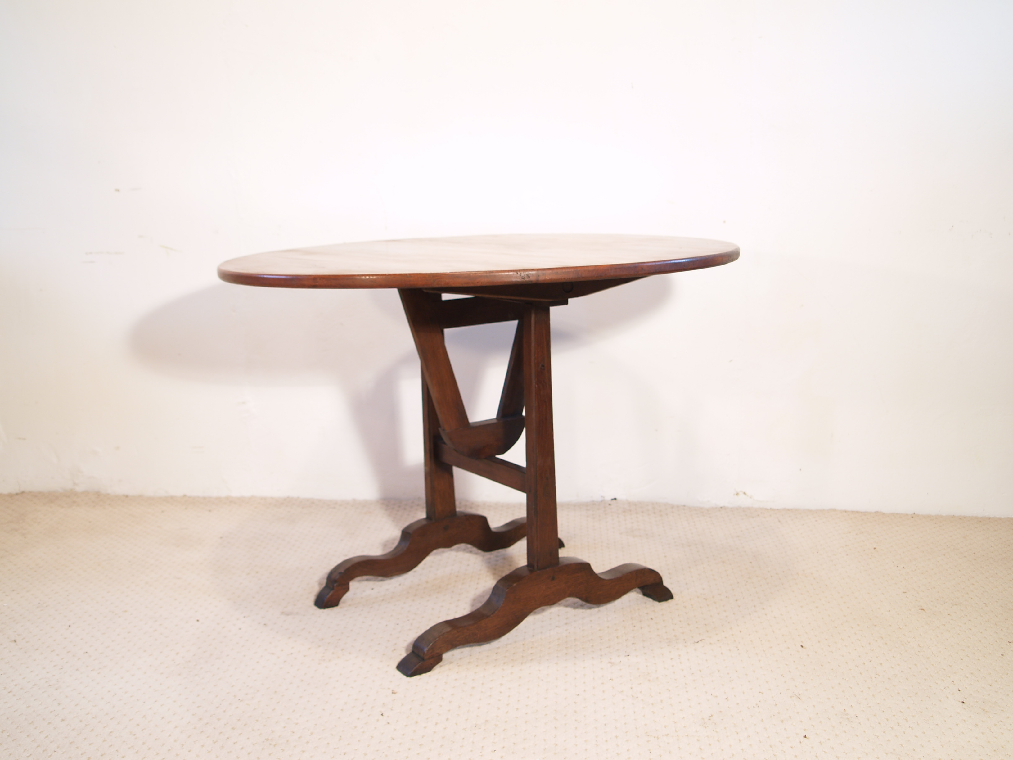 French antique vintage cherry and oak vendange table