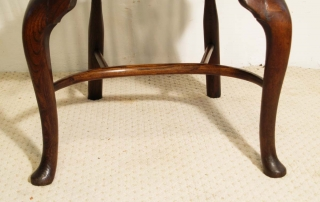 English Vintage Double Bow Windsor Chairs, crinoline stretcher