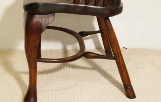 English Vintage Double Bow Windsor Chairs, slightly different legs and back stretchers