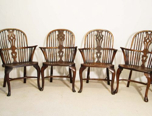 English Vintage Double Bow Windsor Chairs