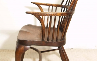 English Vintage Double Bow Windsor Chairs, side