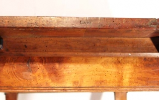 French antique vintage maple writing table, detachable top