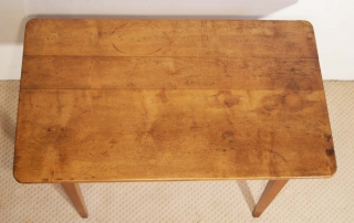 French antique vintage maple writing table, top