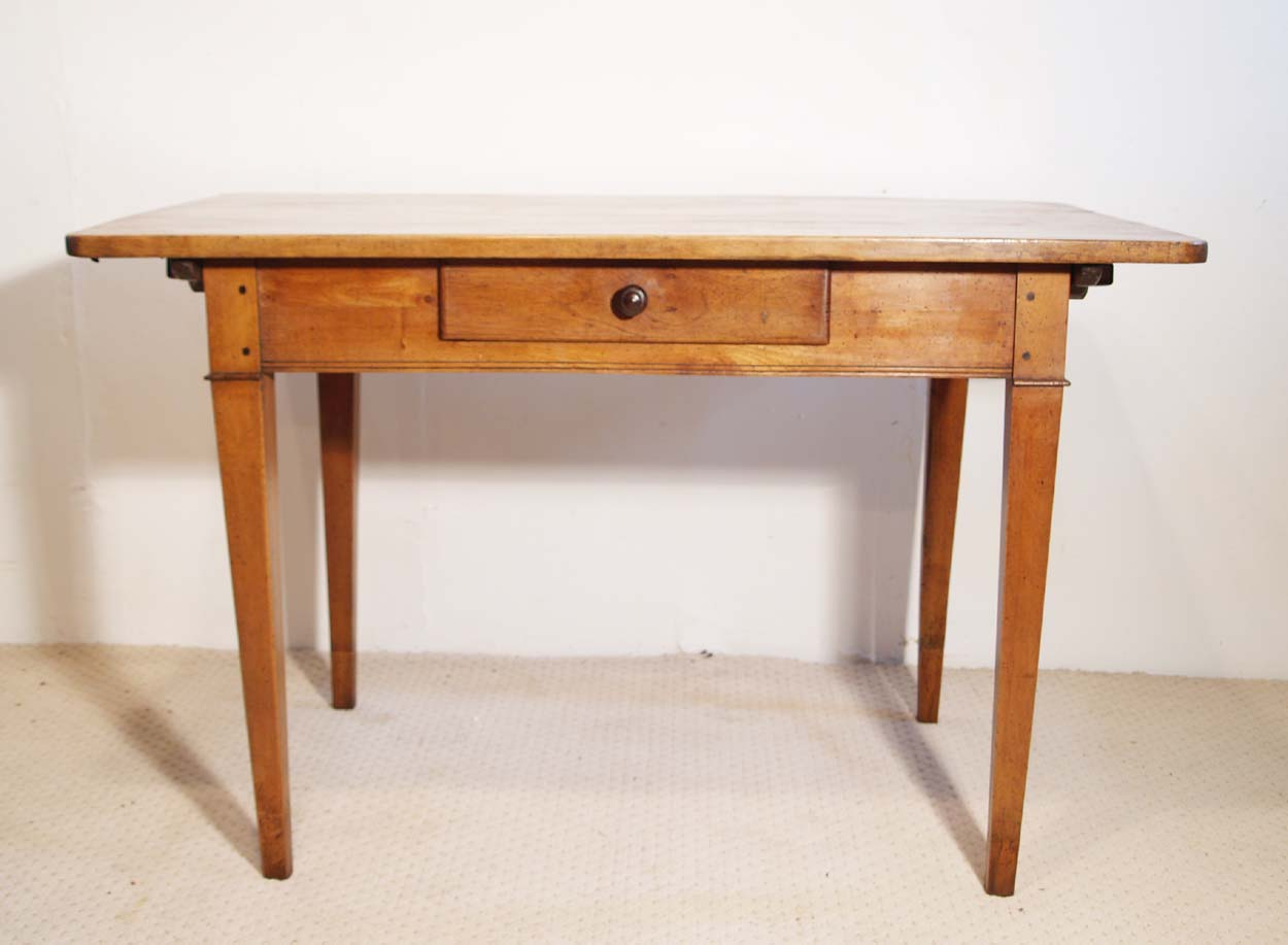 French antique vintage maple writing table