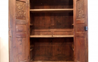 French Antique Vintage Oak Laiterie, Armoire, C 1780, interior