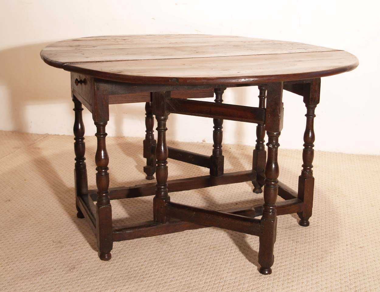 English Vintage Antique Oak Gateleg Table.