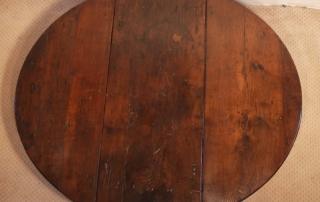 English Vintage Antique Oak Gateleg Table, top