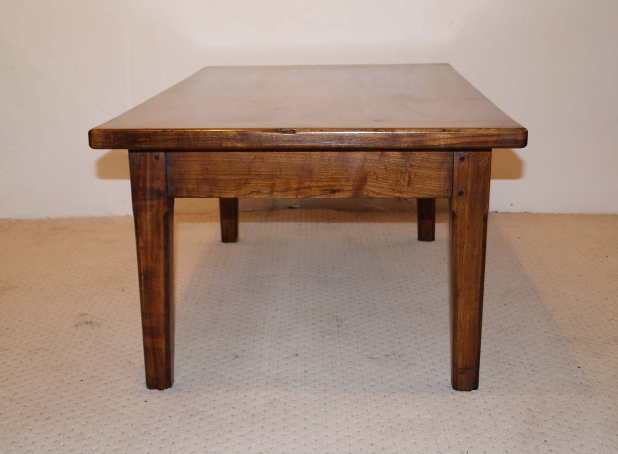 French Antique style Cherry Coffee Table, end