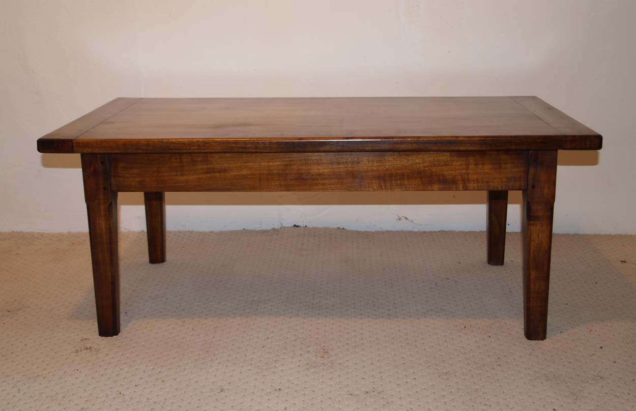 French Antique style Cherry Coffee Table, side
