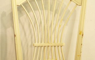8 french vintage painted rush seat chairs wheatsheaf back 2