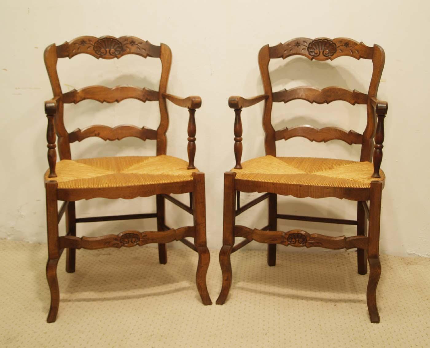 Pair French vintage fauteuils 1