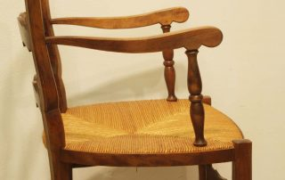 Pair French vintage fauteuils arms