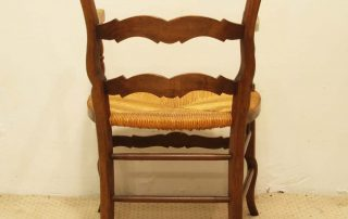 Pair French vintage fauteuils back