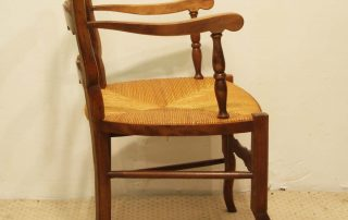 Pair French vintage fauteuils side